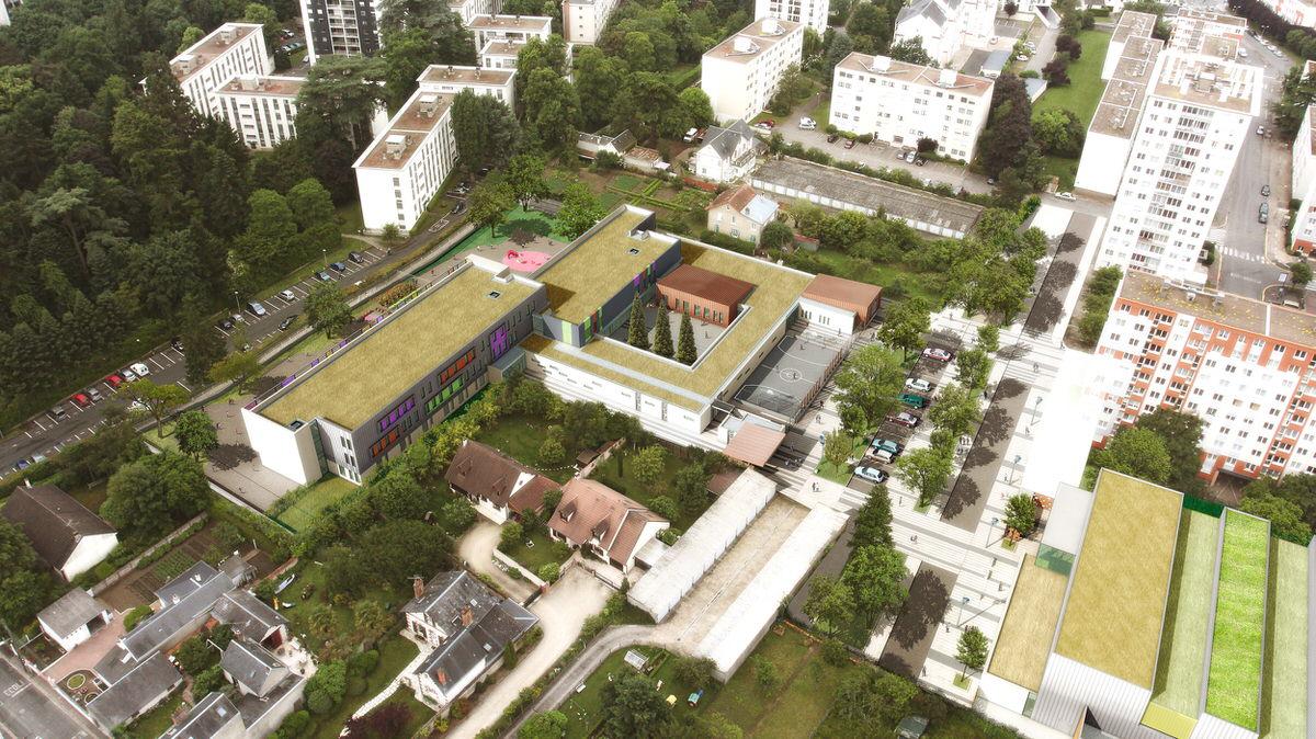 Créature Architectes - Reconstruction du groupe scolaire Bénédicte Maréchal - Orléans - 45