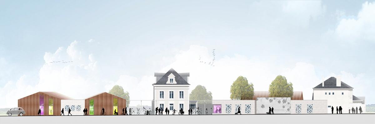 Créature Architectes - Extension et réhabilitation du groupe scolaire élémentaire Roger Foussat - Naveil - 41