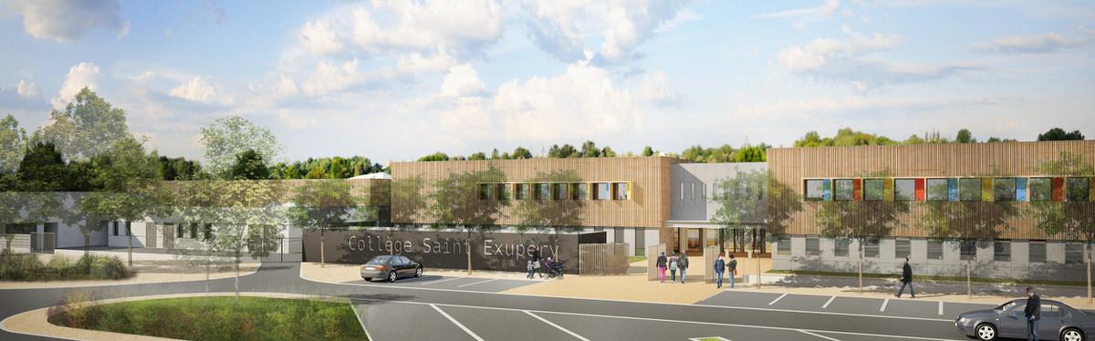 Créature Architectes - Restructuration et extension du collège Saint Exupéry - Jaunay-Clan - 86