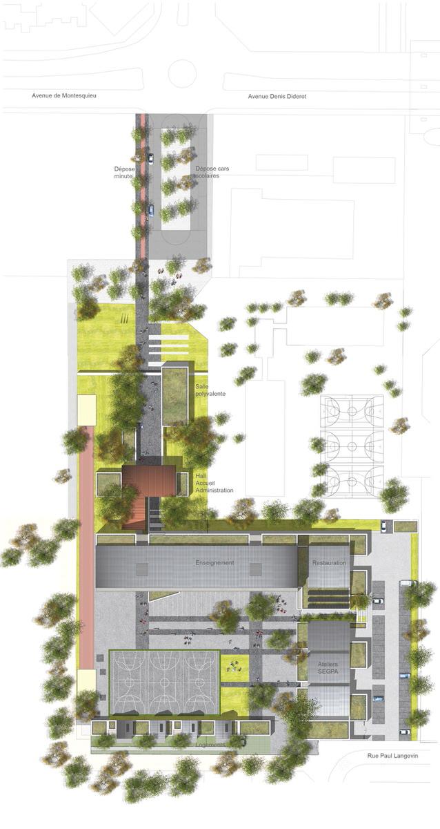 Créature Architectes - Reconstruction du collège Montesquieu - Orléans la Source - 45