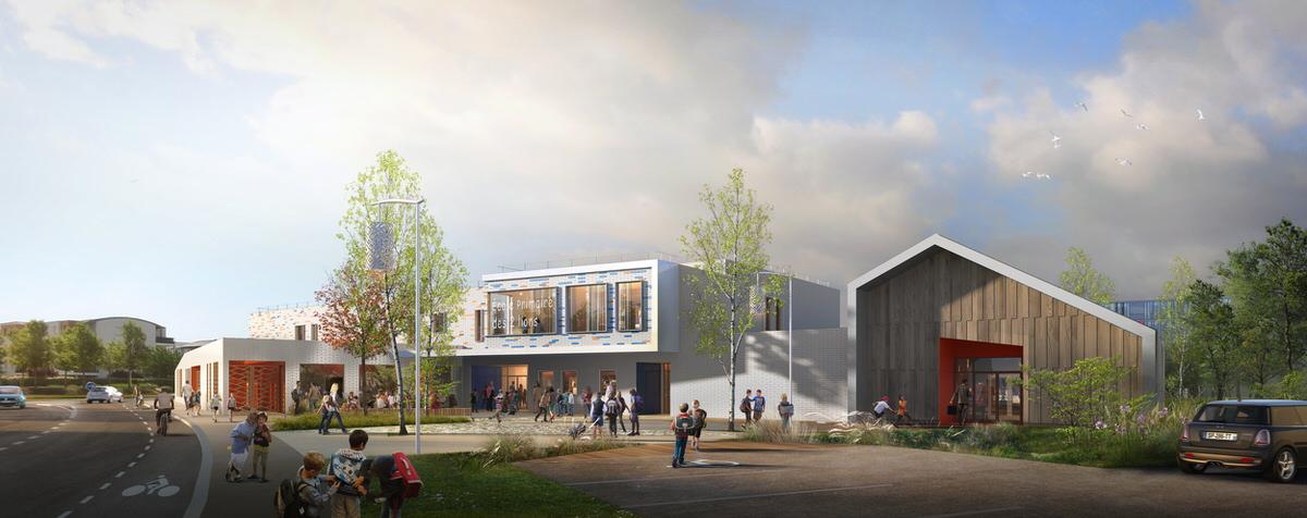 Créature Architectes - Construction du groupe scolaire des 2 Lions - Tours - 37