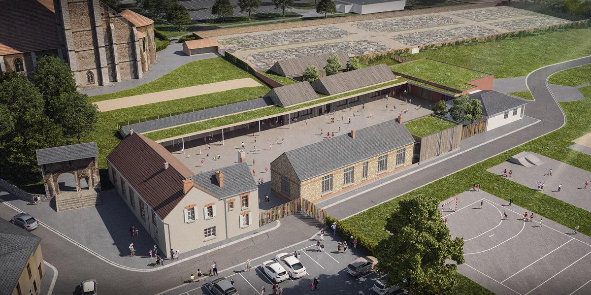 Créature Architectes - Restructuration et extension de l'école élémentaire Edouard Caniaux - Châteaudun - 28