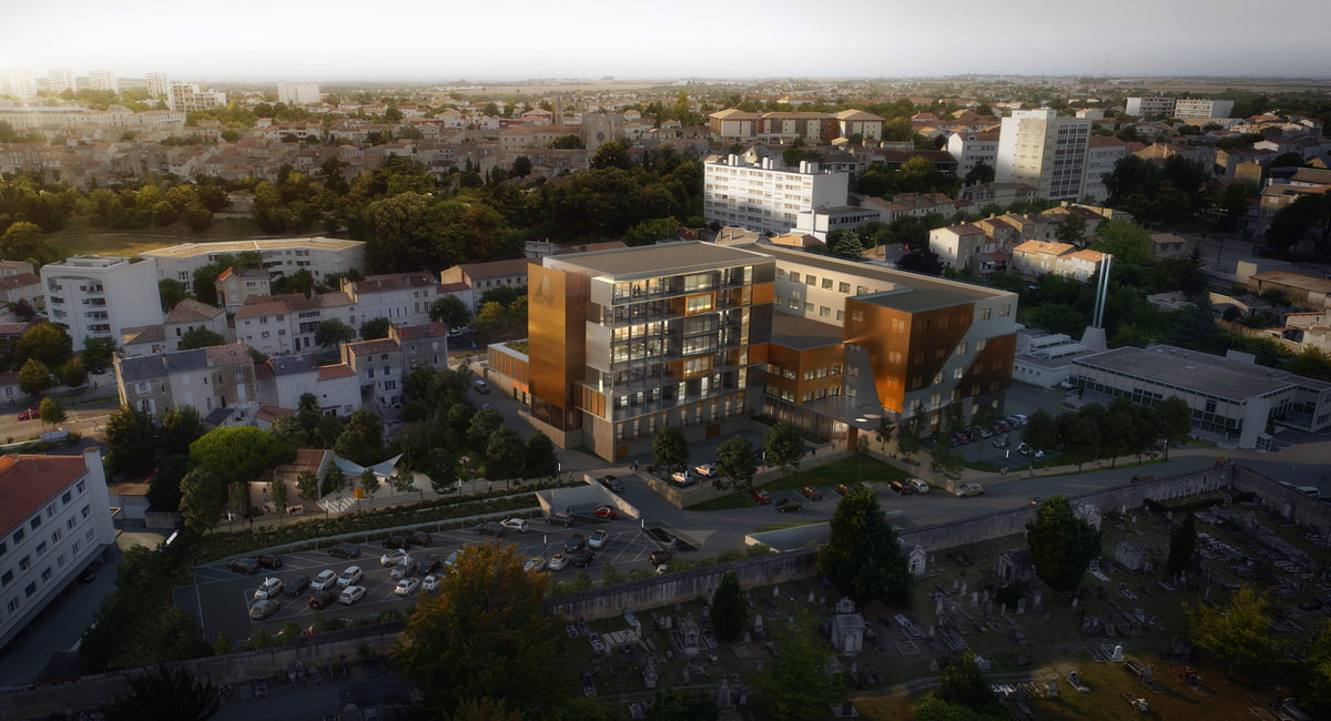 Créature Architectes - Extension, Restructuration et rénovation thermique des bureaux et espaces extérieurs d'IMA - Niort - 79
