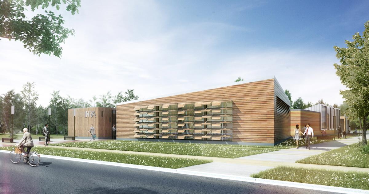 Créature Architectes - Construction du bâtiment Qualiforsol dur le site de l'INRA - Ardon - 45