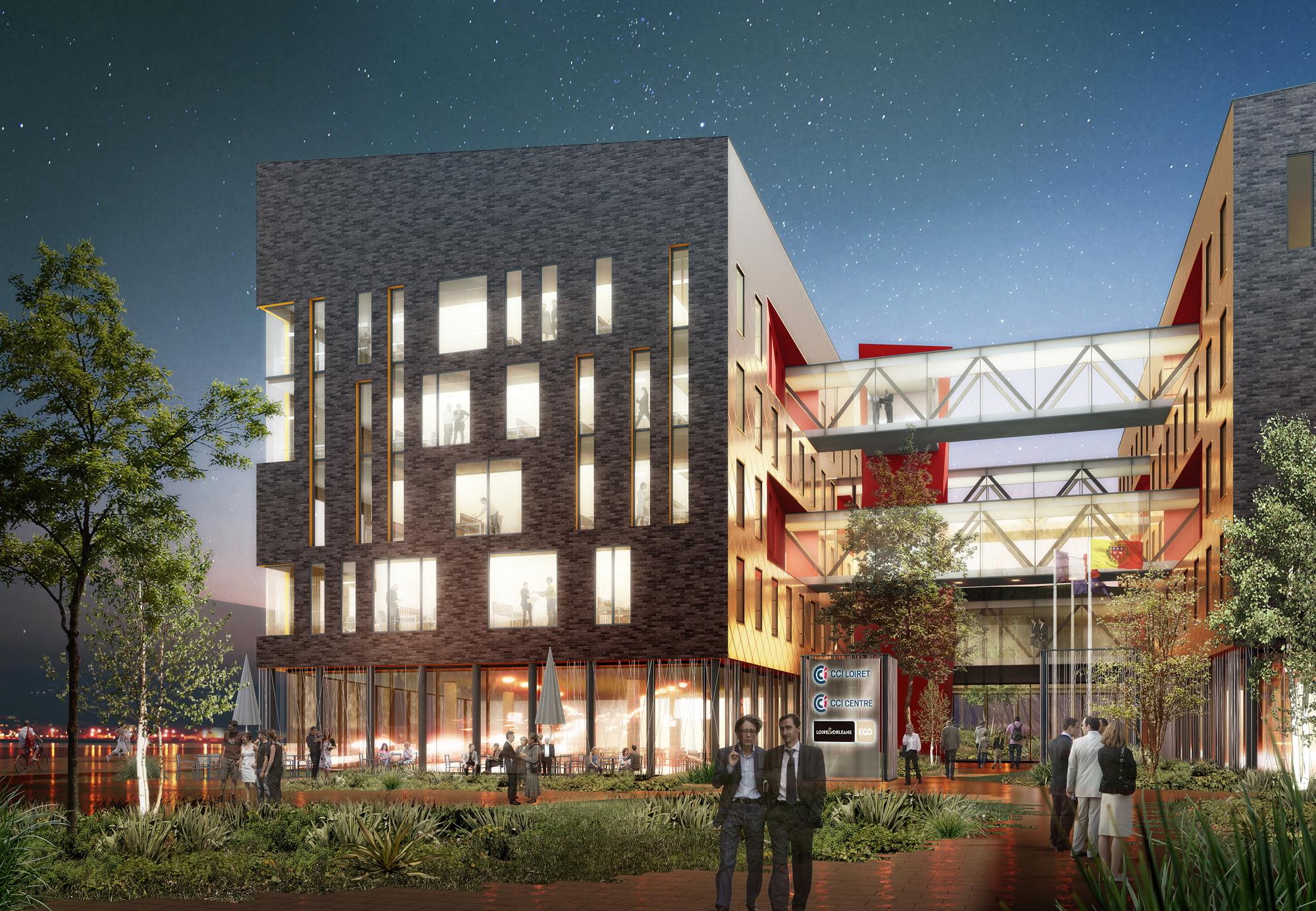 Créature Architectes - Construction d'un immeuble tertiaire «Citévolia» - ZAC Intérives - Fleury-les-Aubrais - 45